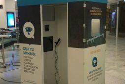 Imagen cabina personalizada de Flash Flash Box para evento de empresa de OCU